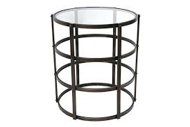 Glass Accent Table Caged Metal Accent Table Living Spaces