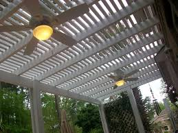 Lattice Pergola Roof by Outdoor Patio Shade Options For Pergolas Lone Star