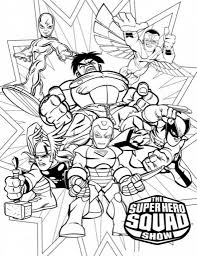 super hero squad coloring pages with regard to motivate to color