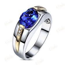 blue man rings images Gvbori man 39 s 1carat diamond 1carat blue gemstone luxurious man or jpg