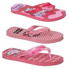 girls hello kitty flip flops kids thong slippers holiday