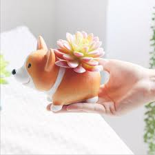 small flower pot resin small flower pot planter corgi u2013 squishy squish