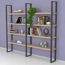 arredo librerie libreria design kym struttura in acciaio e legno diverse finiture