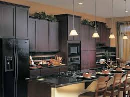Kitchen Cabinet Features Amazing Kitchen With Brown Cabinets Features Black Appliances