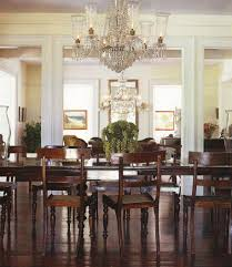 Dining Table Chandelier Dining Room Awesome Dining Room Design With Dark Brown Rectangular