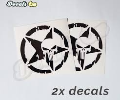 jeep decals punisher jeep decals decalson awesome car stickers decals