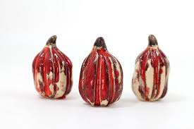 ceramic pumpkins and white ceramic pumpkins ceramics by orly