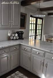 How To Paint Kitchen Cabinets Gray Dear Lillie Darker Gray Cabinets And Our Marble Review Light