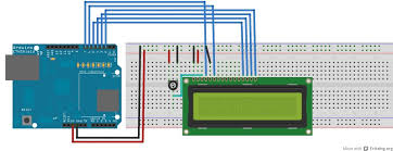 arduino lcd wiring diagram components