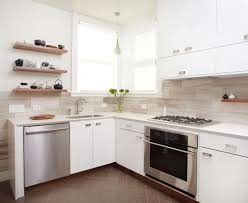Chrome Floor L Kitchen Best Kitchen Small Space With L Shape Modern Painted