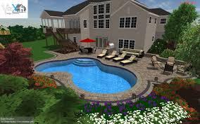 salt water 3d gunite pool design w outdoor living space outdoor