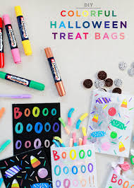 colorful halloween treat bags