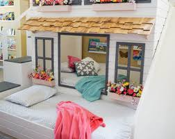 Built In Bunk Bed Bunk Beds Etsy