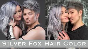 silver fox hair color youtube
