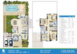 Villa Floor Plan by Floor Plans Of Al Ghadeer
