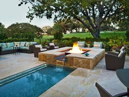 Backyard Fire Pits Designs by Outdoor Fire Pit Designs By The Pool