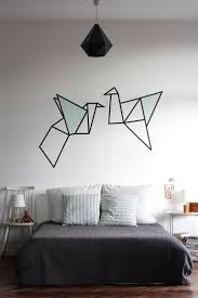 3d Bedroom Wall Paintings Best 25 Origami Wall Art Ideas On Pinterest Origami Decoration