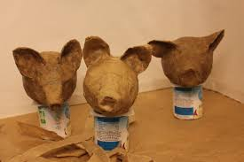 how to make papier mâché puppet heads ecologically marionnettes