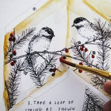 diy project chickadee tree topper ornament from the