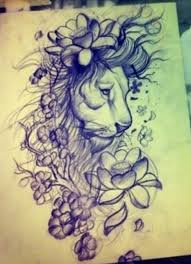 lion cover up tattoo design