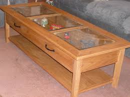 coffee table glass display coffee table clear rectangle shape