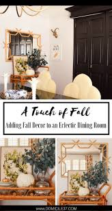 a touch of fall adding fall decor to my dining room domicile 37