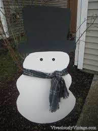 ansley designs diy snowman yard decoration