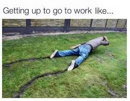 Get To Work Meme - getting up to go to work like funny pic