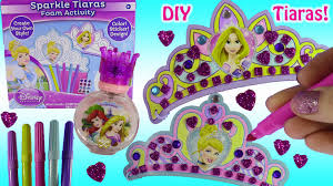 disney princess sparkle tiaras foam activity kit diy with glitter