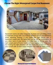 bright idea carpet pad in basement good basement carpet