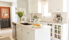First Home Renovation White Quartz by Kitchen In Progress White And Gray Kitchen Transformation