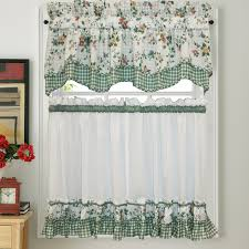 Green Checkered Curtains Be Creative With The Tier Curtains U2013 Home Design Ideas