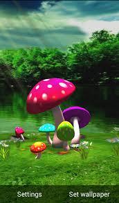 wallpaper 3d mushroom download 3d mushroom hd live wallpaper for android 3d mushroom hd