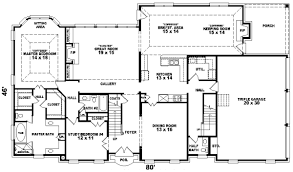 3500 sq ft house colonial house plan 3 bedrooms 3 bath 3500 sq ft plan 6 1124