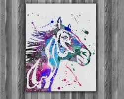 equine home decor horse watercolor painting horse art print horse poster horse