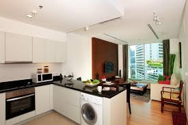 kitchen elegant black countertops with white washing machine on