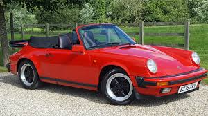 convertible porsche red used porsche 911 carrera 3 2 sport convertible fantastic low