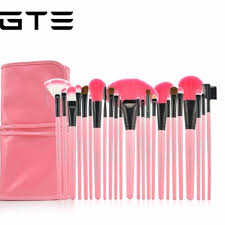 gte 24 pc professional make up brush set pink makeup brush