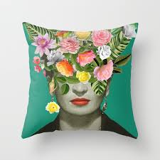 frida floral throw pillow by desireefeldmann society6