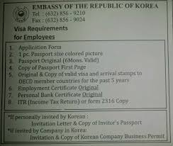 Employment Certification Letter Sample Visa lakwatserang bulakenya korean visa application