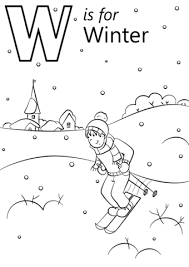 W Is For Winter Coloring Page Free Printable Coloring Pages Winter Coloring Pages Free Printable