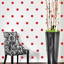 Red Polka Dot Curtains 64 Red Polka Dot Wall Decals U2013 Wall Dressed Up