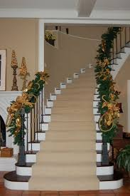 Banister Christmas Ideas Here The Golden Decorations Match The Color Palette Beautifully