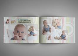 baby photo album design baby photobook album template g2 a4 landscape