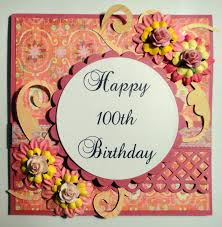 time to create happy 100th birthday and magnolia candy