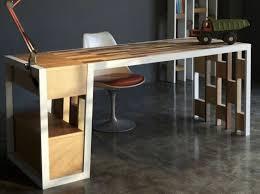 bureau bois acier bureau informatique design bois acier 90 l x 50 i x 95h cm noir dans