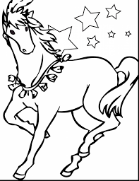 magnificent printable realistic horse coloring pages with horse