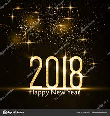 happy new year backdrop happy new year 2018 background with gold glitter stock vector