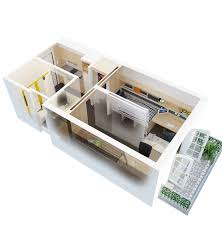 topnotch studio apartment floor plans exposing divine bed and