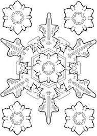 detailed christmas coloring pages dozen 8x8 snowflakes